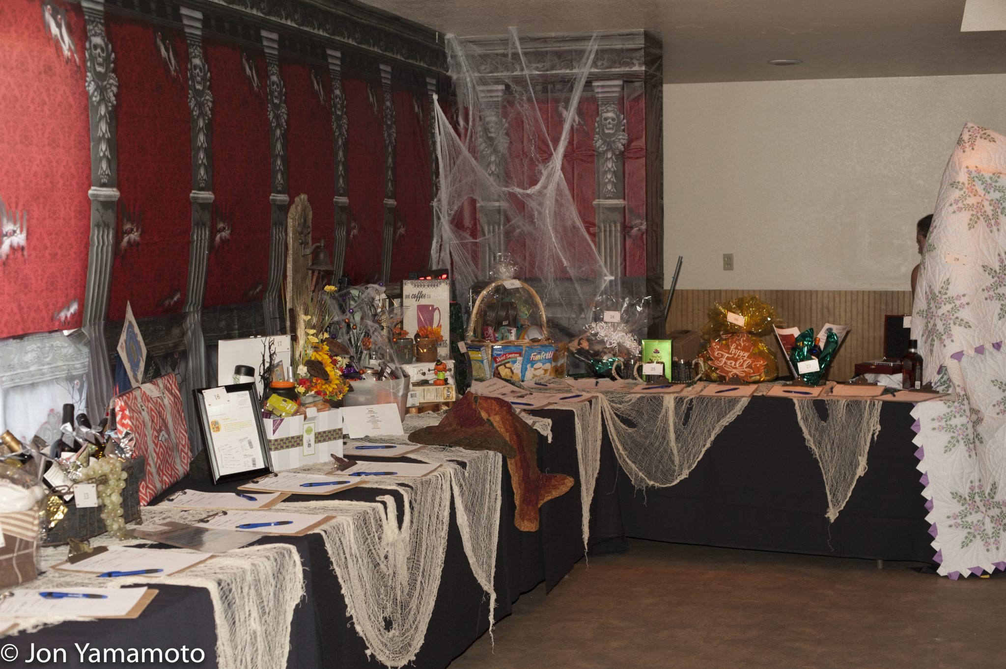 Mystic Mansion 2016 Silent Auction Tables